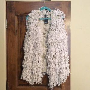 Nastygal shag sweater vest NWT